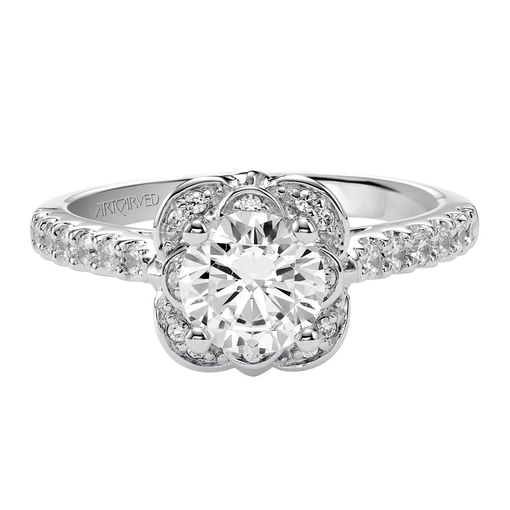Skylar Engagement Ring 14Kwg