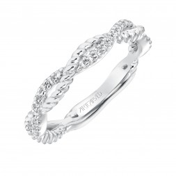 Rhea Twst Diamond  Wedding Band
