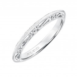 Audriana Scroll Wedding Band