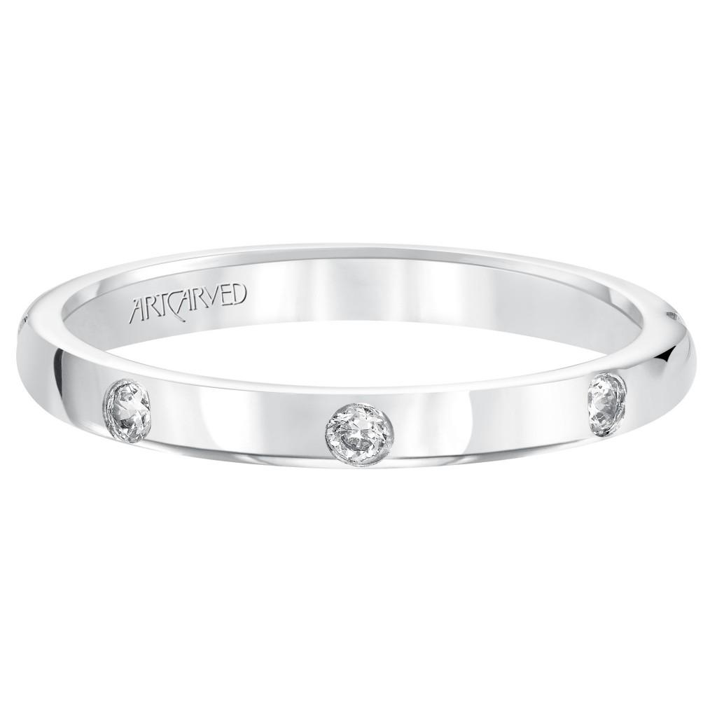 Platinum Diamond Anniversary Ring