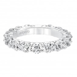 Eternity Anniversary Ring With Shared Prong Set Round Diamonds