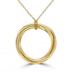 Yellow 18 Karat Classic Circle Necklace