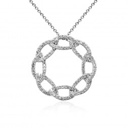 14W PEND ROUND PAVE OPEN LINK
