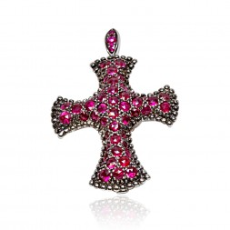 MOUAWAD 18W PEND CROSS RUBY