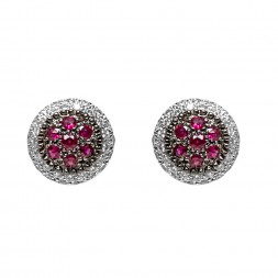 MOUAWAD 18W BUTTON EAR RUBY
