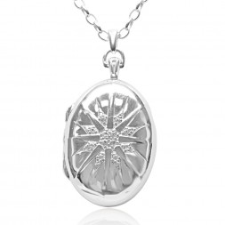 MRK SS LOCKET OV ENGRAVED