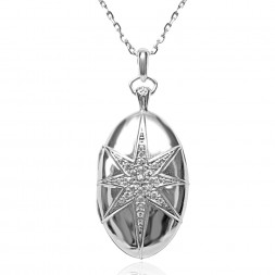 MRK SS LOCKET 8 POINTED