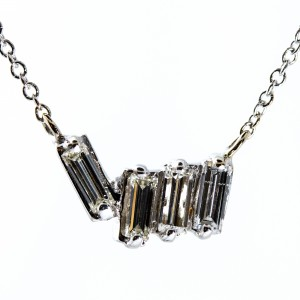 Baguette Diamond Necklace (.36ctw)