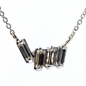 Baguette Diamond Necklace (.36ctw)