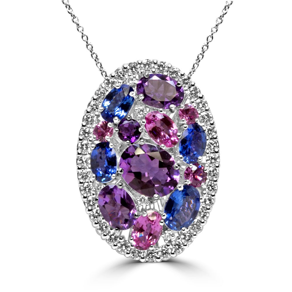 Lady's White 18 Karat Pendant Necklace