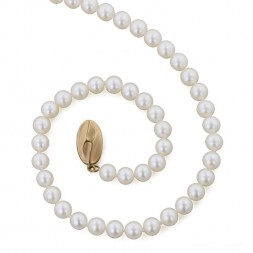14K 5+MM White Freshwater Cultured Pearl 18