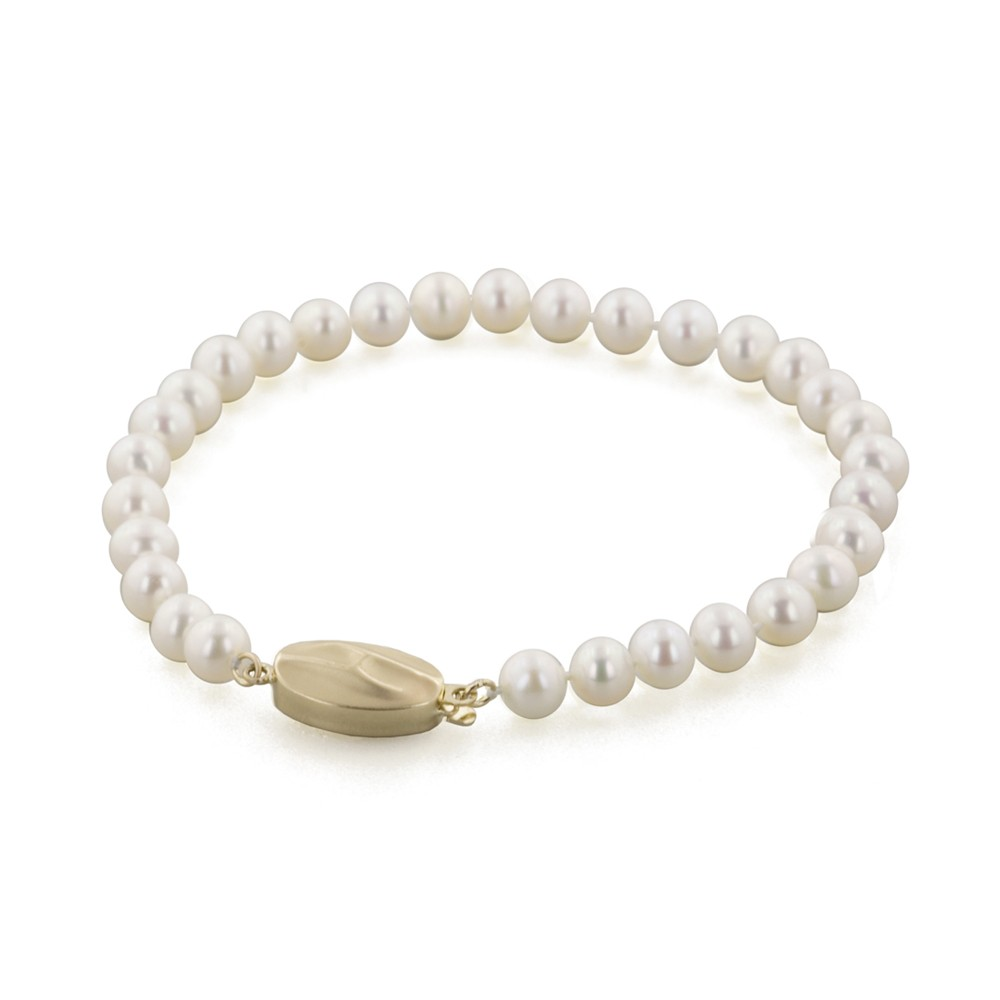 14K 5+MM White Freshwater Cultured Pearl 7
