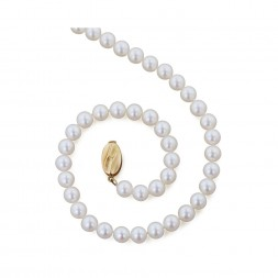 14K 6+MM White Freshwater Cultured Pearl 18