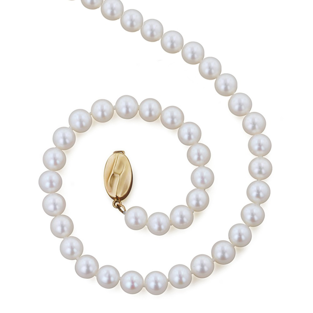 14K 6+MM White Freshwater Cultured Pearl 20