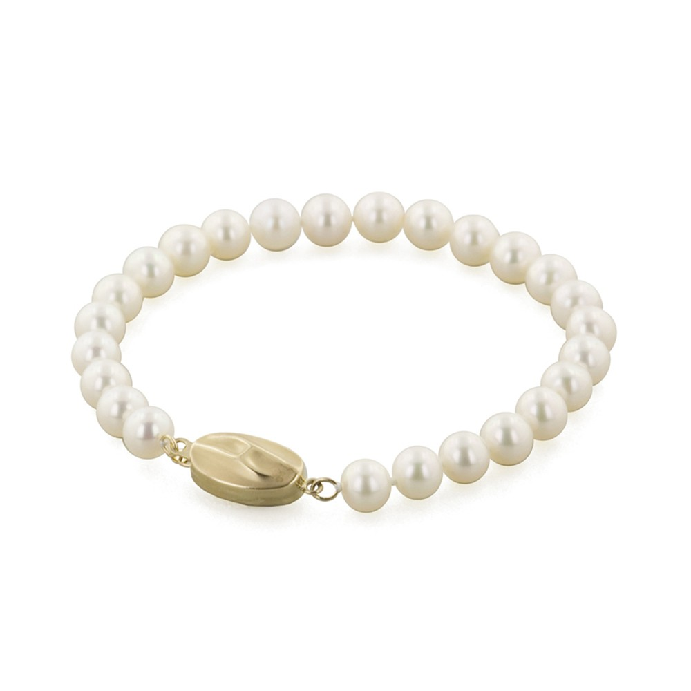 14K 6+MM White Freshwater Cultured Pearl 7
