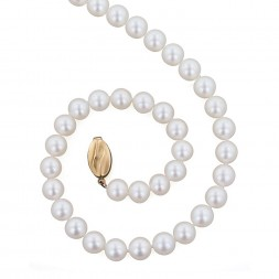 14K 7+MM White Freshwater Cultured Pearl 18