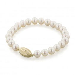 14K 7+MM White Freshwater Cultured Pearl 7