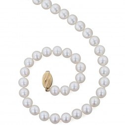 14K 9+MM White Freshwater Cultured Pearl 18