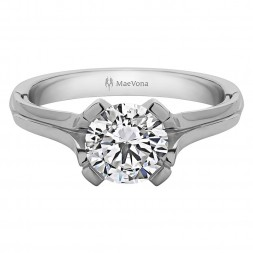 ORONSAY ROUND SOLITAIRE WITH 0.40ct H-SI CENTER STONE
