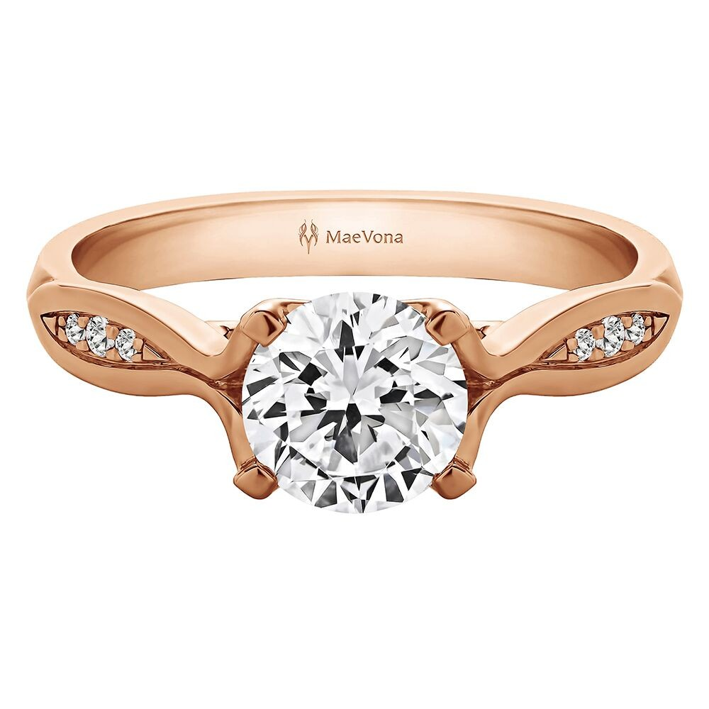 WESTRAY DIAMOND ROUND ENGAGEMENT RING WITH 0.75ct H-SI ROUND CENTER