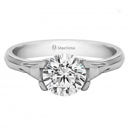 EORSA ROUND SOLITAIRE WITH 0.40ct H -SI ROUND CENTER