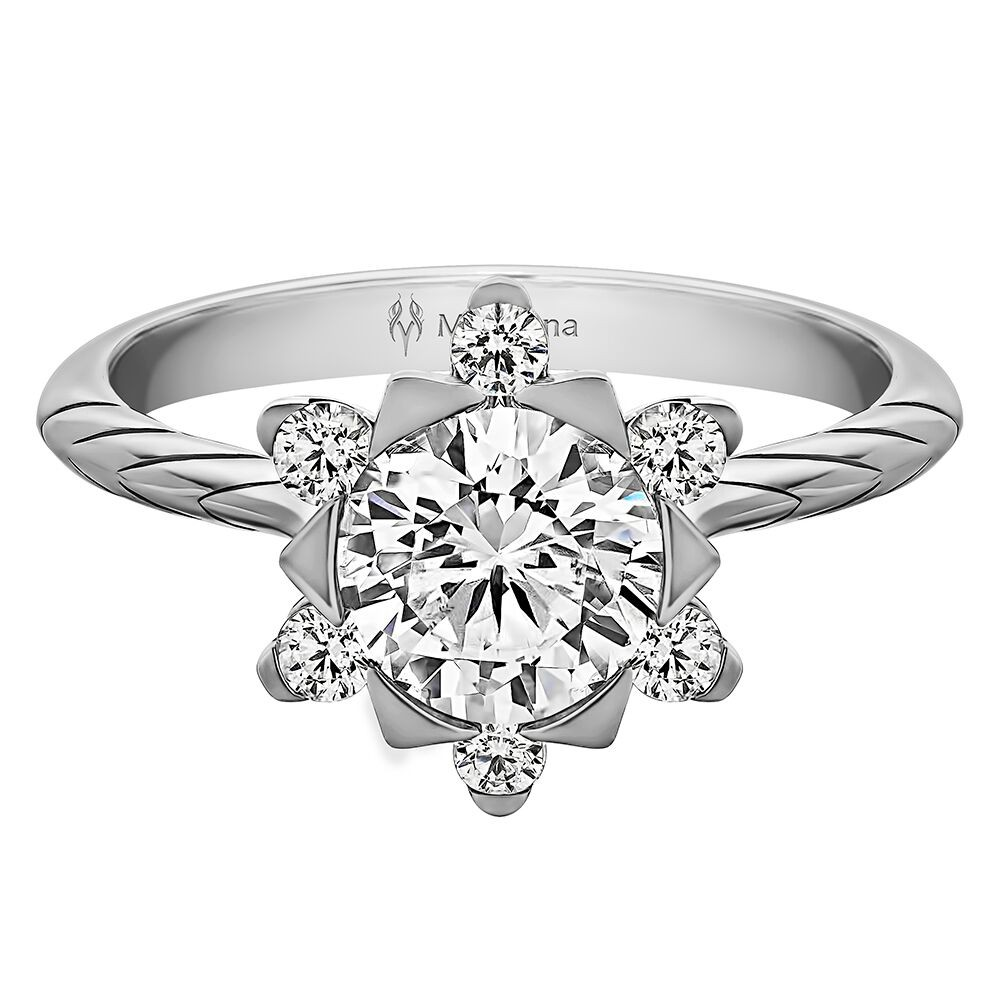 MALLOW ROUND HALO WITH  0.40ct H-SI ROUND CENTER