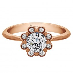 HEATHER ROUND ENGAGEMENT 0.60ct HSI ROUND CENTER