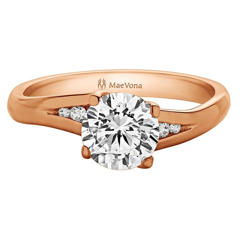 SEIL ENGAGEMENT WITH 0.60ct H-SI ROUND CENTER STONE