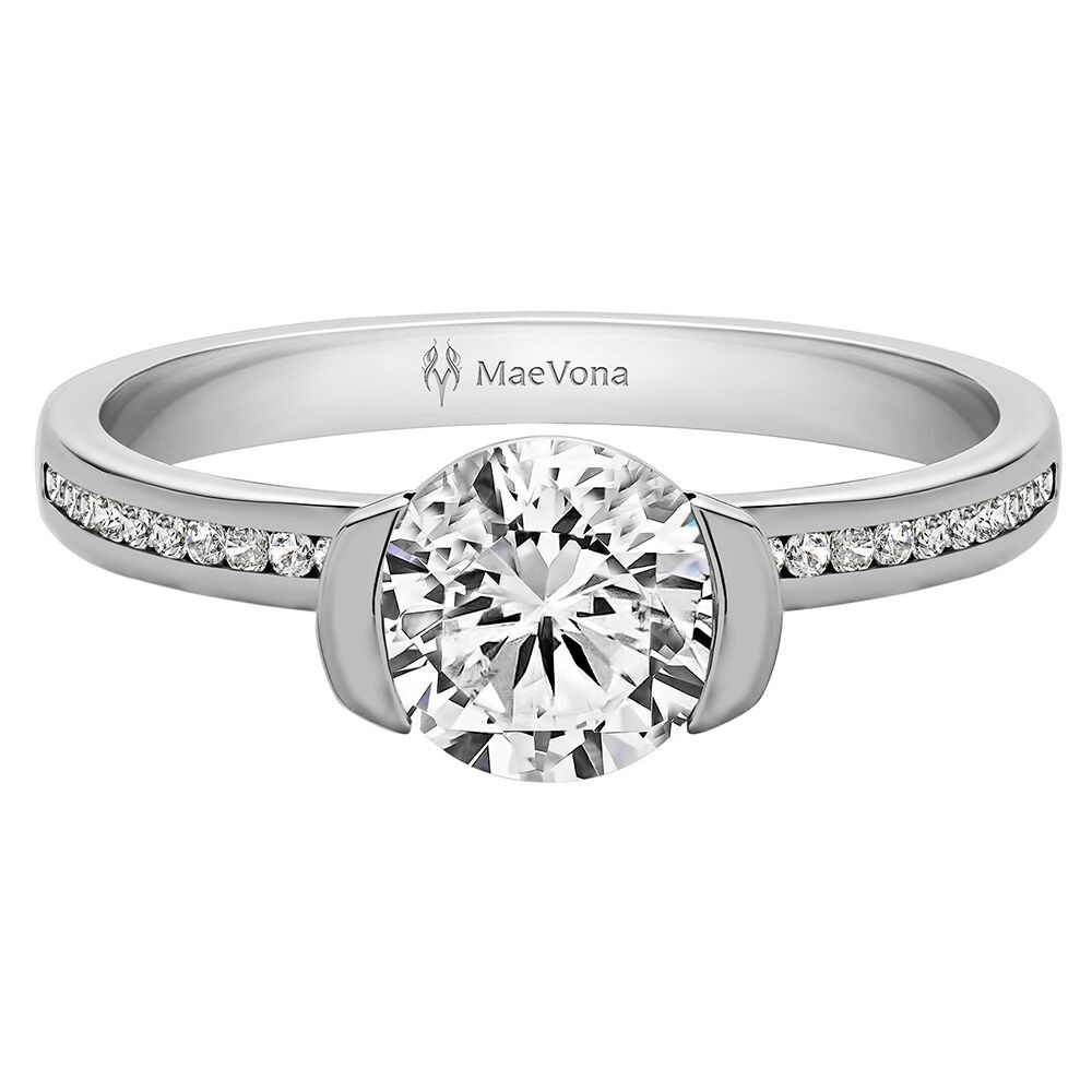 CAVA CHANNEL ROUND ENGAGEMENT WITH 0.75ct H-SI CENTER STONE