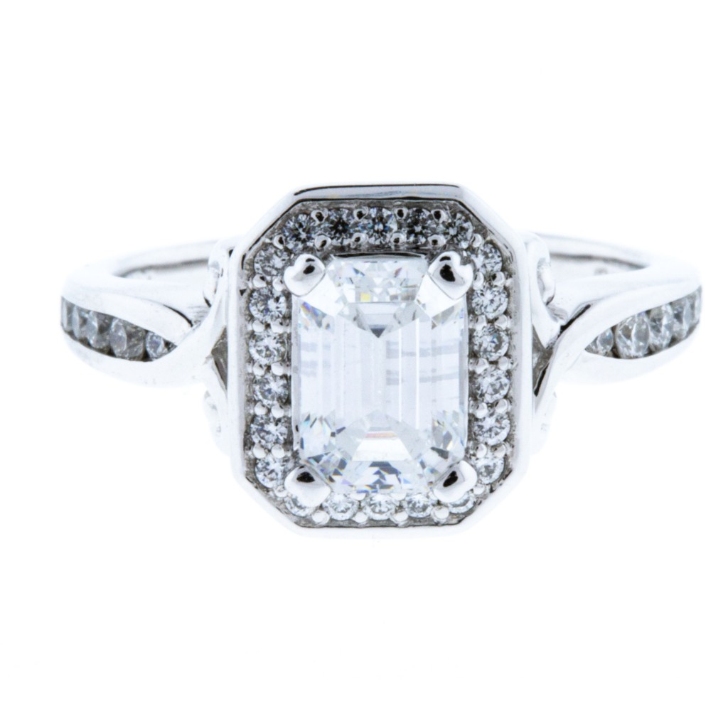 Artcarved Emerald Cut Mounting (.30ctw)