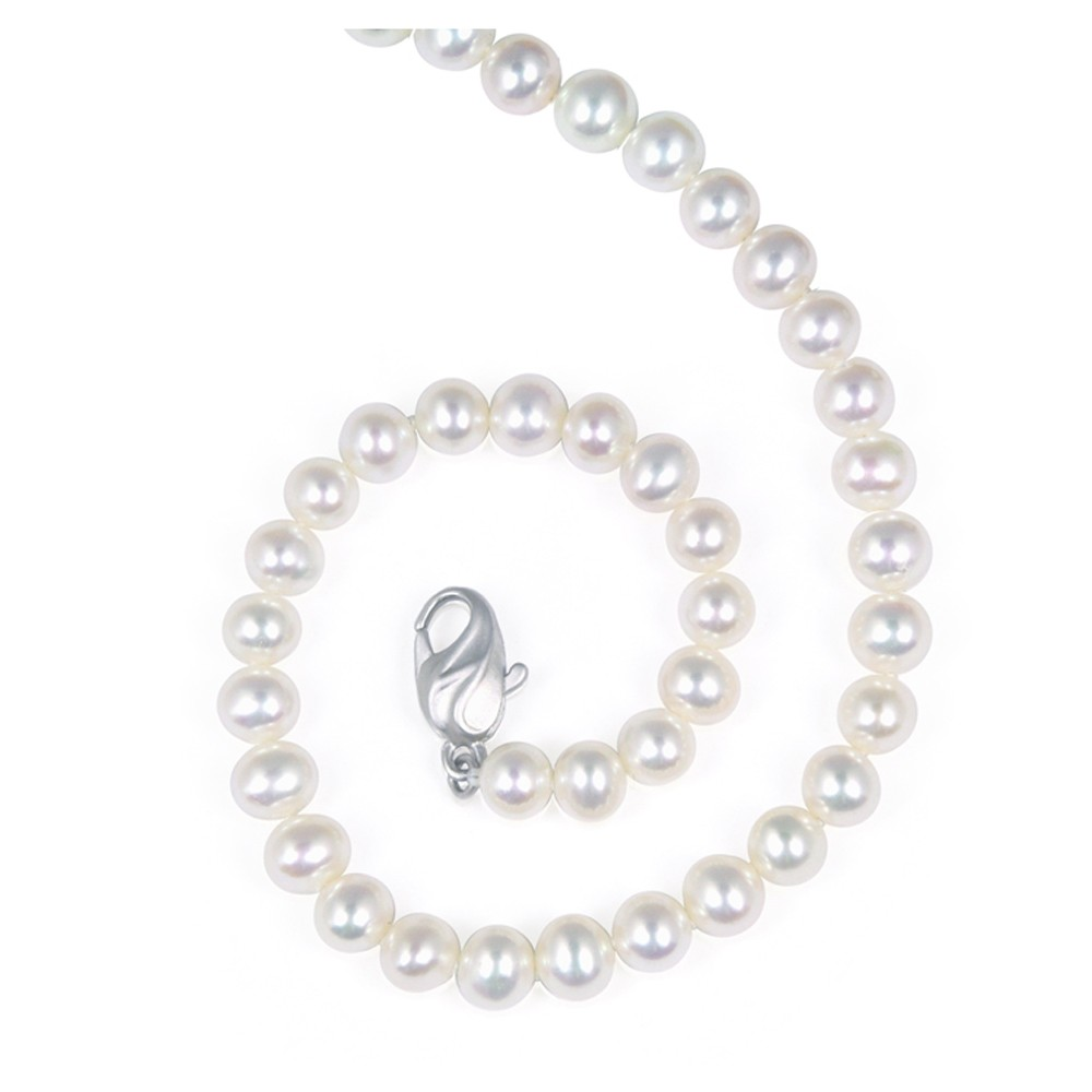 Sterling Silver 6-7MM White ASP Freshwater Cultured Pearl 16