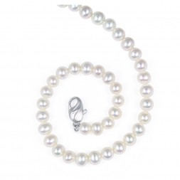 Sterling Silver 6-7MM White ASP Freshwater Cultured Pearl 18