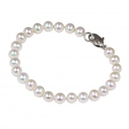 Sterling Silver 6-7MM White ASP Freshwater Cultured Pearl 7