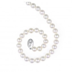 Sterling Silver 8-9MM White ASP Freshwater Cultured Pearl 16