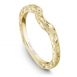 Noam Carver Engraved Yellow Gold Matching Band