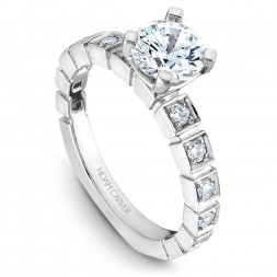 Noam Carver White Gold Engagement Ring With 12 Diamonds