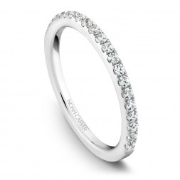 Noam Carver White Gold Matching Band With 18 Diamonds