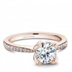 Noam Carver Rose Gold Engagement Ring With 70 Diamonds