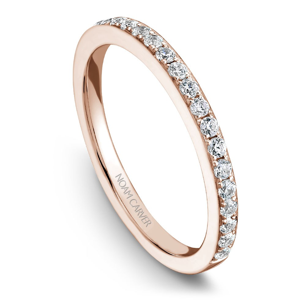 Noam Carver Rose Gold Matching Band With 25 Diamonds