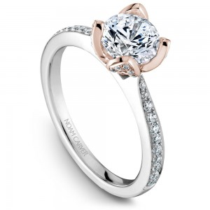 Noam Carver White And Rose Gold Engagement Ring With 70 Diamonds