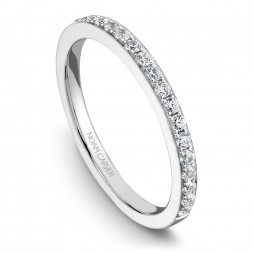 Noam Carver White Gold Matching Band With 25 Diamonds