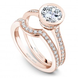 Noam Carver Rose Gold Matching Band With 27Diamonds
