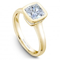 Noam Carver Yellow Gold Engagement Ring With 18 Diamonds