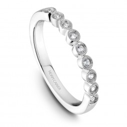 Noam Carver White Gold Matching Band With 9 Diamonds