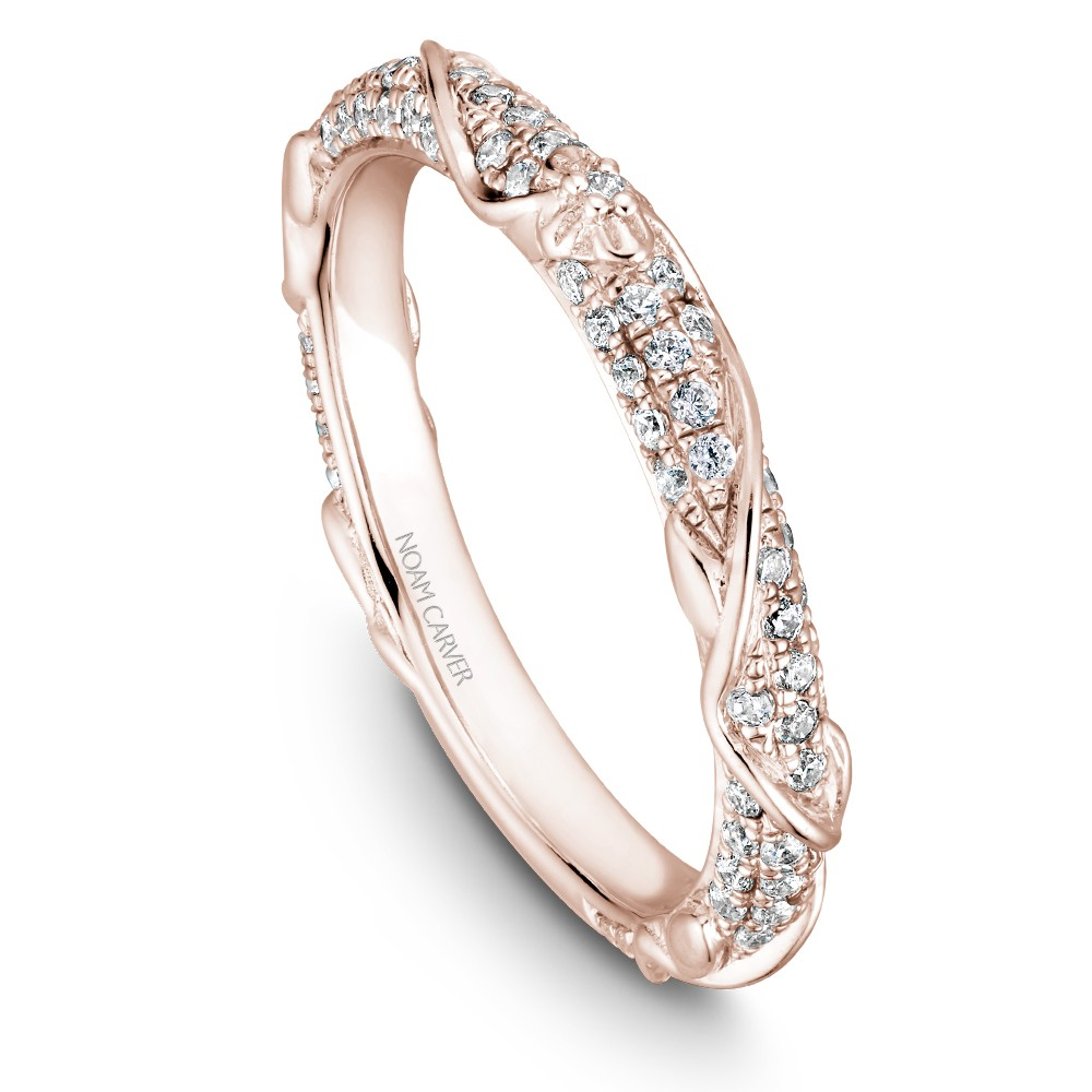 Noam Carver Rose Gold Matching Band With 87 Diamonds