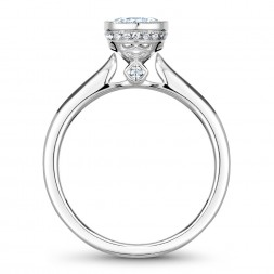 Noam Carver White Gold Engagement Ring With 22 Diamonds And Milgrain Detailing