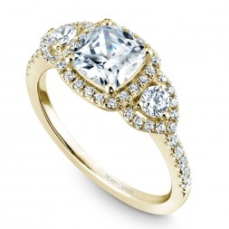 Noam Carver Yellow Gold Engagement Ring With 50 Diamonds