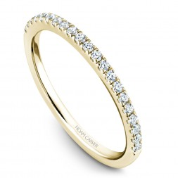 Noam Carver Yellow Gold Matching Band With 21 Diamonds