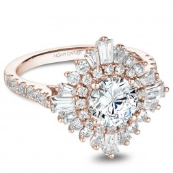Noam Carver Rose Gold Engagement Ring With 48 Diamonds