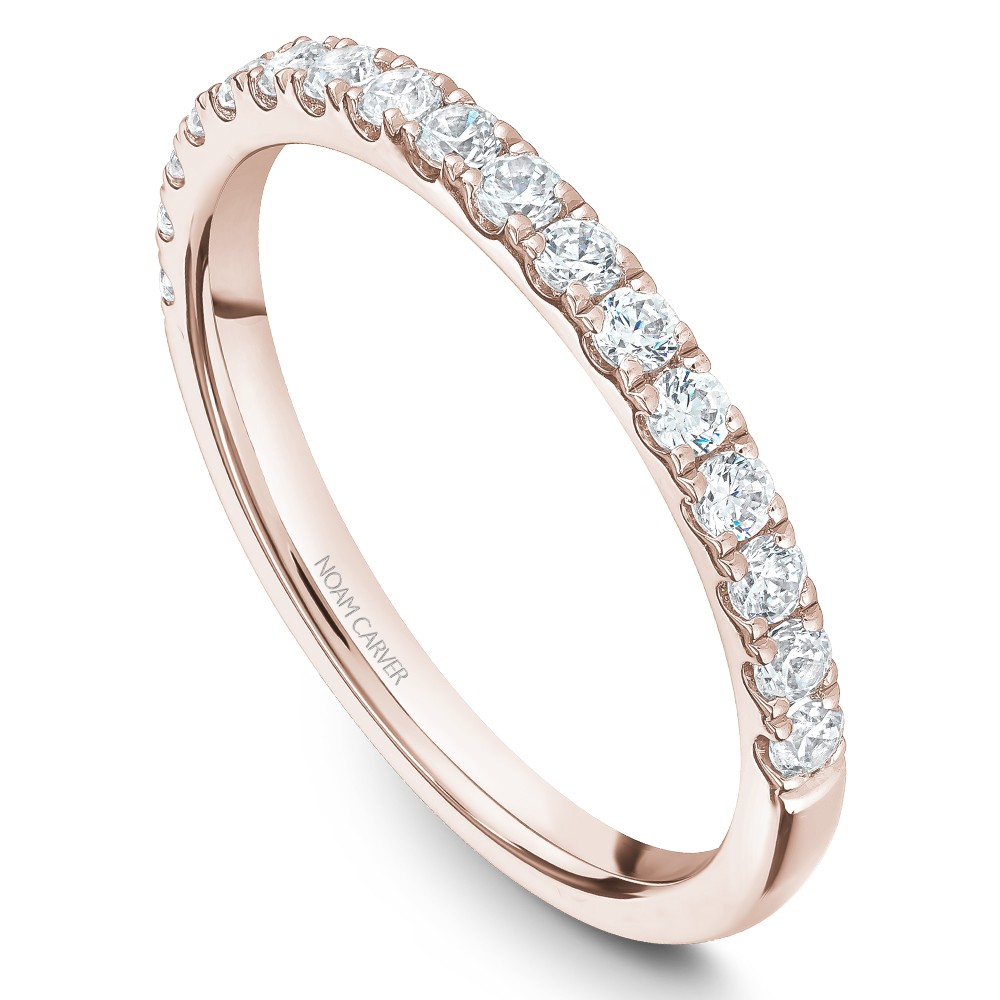 Noam Carver Rose Gold Matching Band With 17 Diamonds